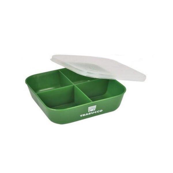 Кутия за стръв Trabucco 4 отделения - зелена