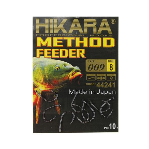 Куки Hikara METHOD FEEDER 009 BLACK CHROME