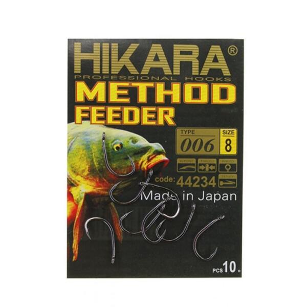 Куки Hikara METHOD FEEDER 006 BLACK CHROME