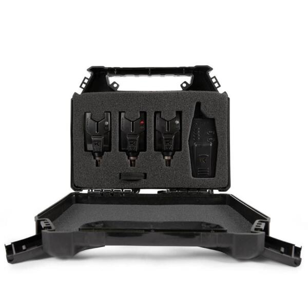 Комплект сигнализатори Korum KBI COMPACT 3 ROD PRESENTATION SET