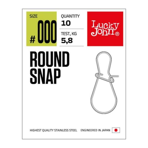 Карабинка Lucky John ROUND SNAP