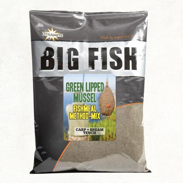 Захранка Dynamite Baits BIG FISH-GREEN LIPPED MUSSEL METHOD MIX - 1.8 кг