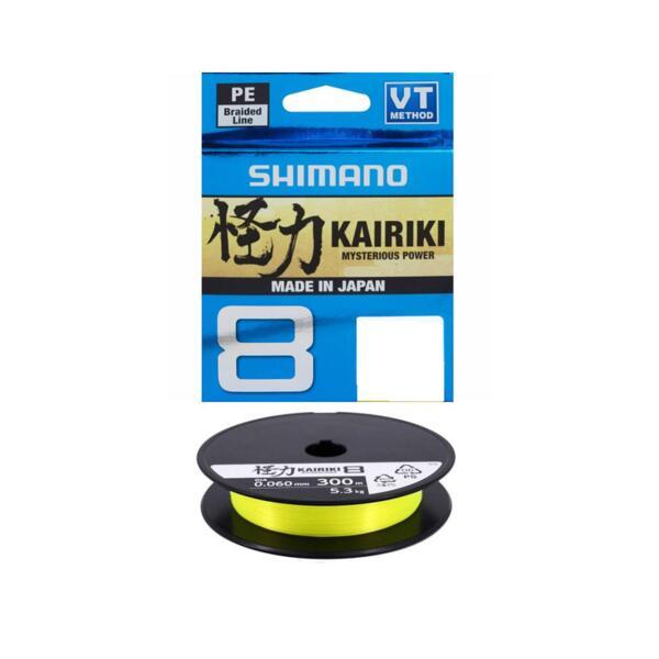 Плетено влакно Shimano KAIRIKI 8 YELLOW - 150м