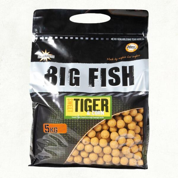Топчета Dynamite Baits BIG FISH SWEET TIGER & CORN BOILIS