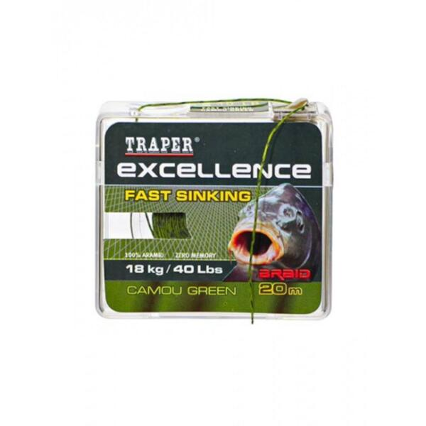 Повод Traper Excellence Fast Sinking Camou Brown