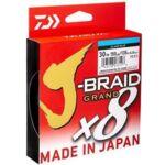Плетено Влакно DAIWA J-BRAID GRAND X8 - LIGHT BLUE - 135m