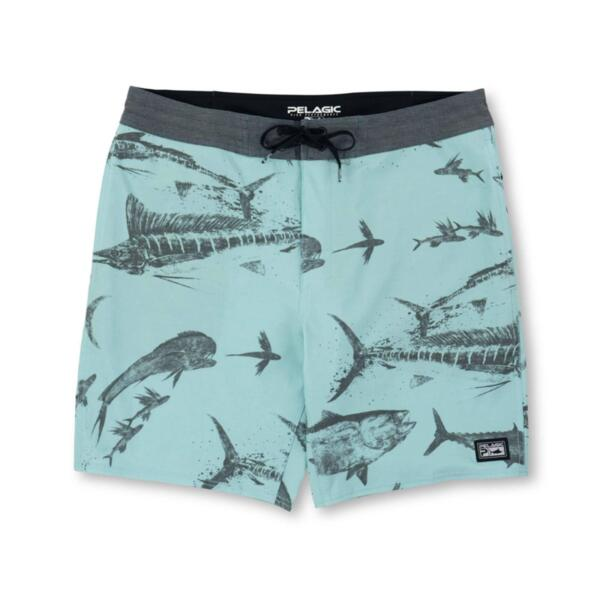 Шорти/къси панталони PELAGICDEEP DROP FISHING SHORTS - GYOTAKUTurquoise