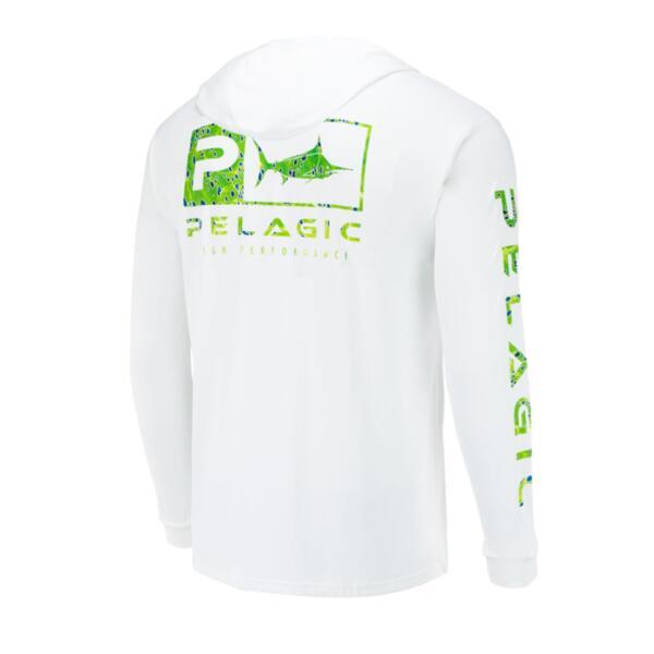 UV блуза с качулка и дълъг ръкав UPF 50+ PELAGIC AQUATEK HOODIE Green