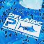 UV блуза с качулка и бъф PELAGIC UPF 50+ EXO-TECH HOODED FISHING SHIRT Blue Dorado