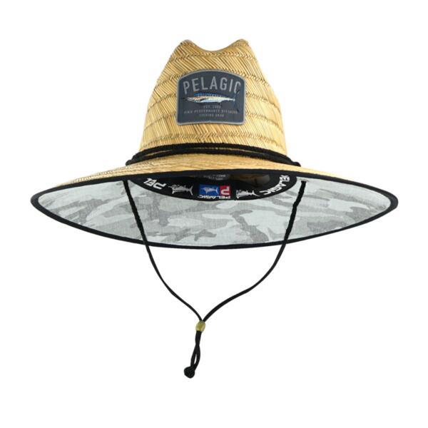 Сламена шапка с периферия PELAGIC BAJA STRAW HAT Fish Camo Light Grey