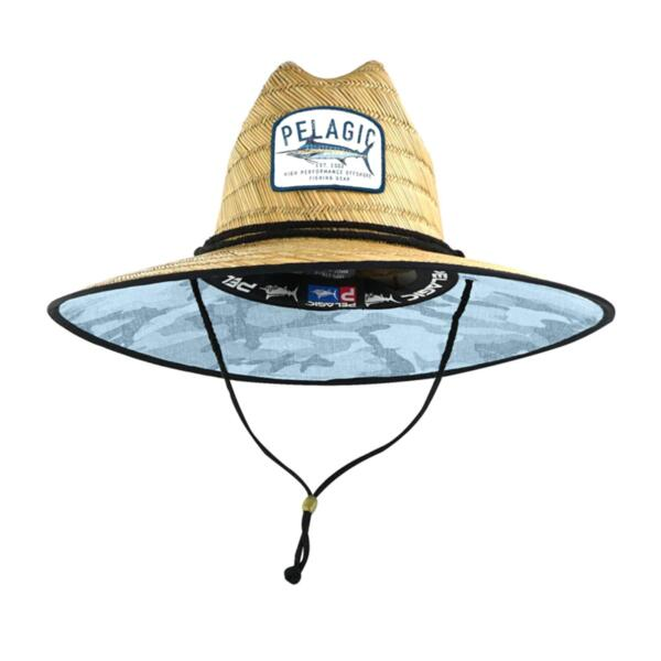Сламена шапка с периферия PELAGIC BAJA STRAW HAT Fish Camo SLATE