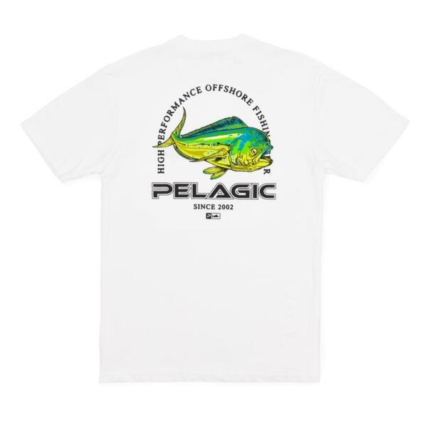 Тениска с къс ръкавPELAGIC FLYING DORADO PREMIUM TEE White