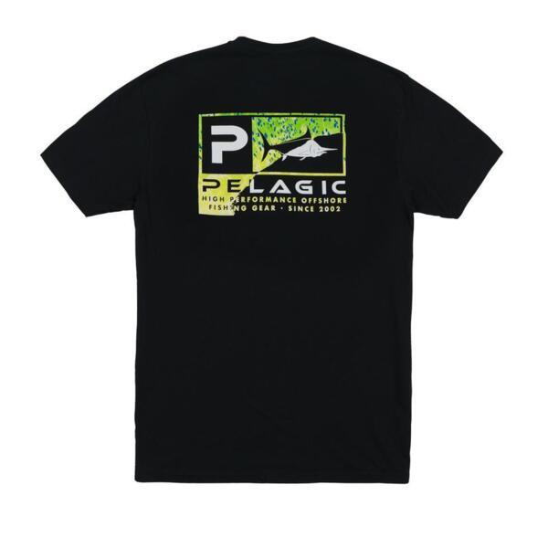 Тениска с къс ръкавPELAGIC TORN ICON GREEN PREMIUM TEE Black
