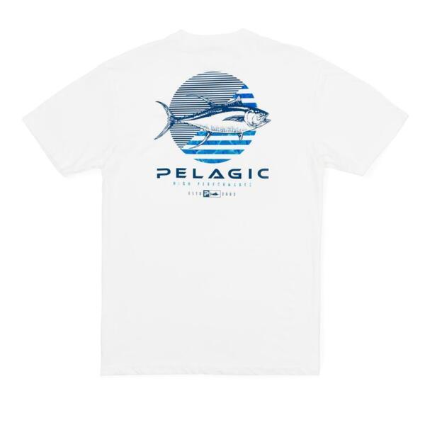 Тениска с къс ръкавPELAGIC TUNA DOT PREMIUM TEE White