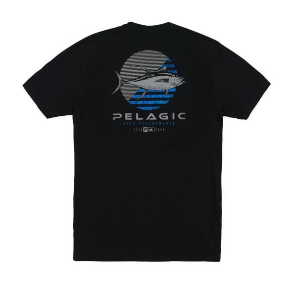 Тениска с къс ръкавPELAGIC TUNA DOT PREMIUM TEE Black