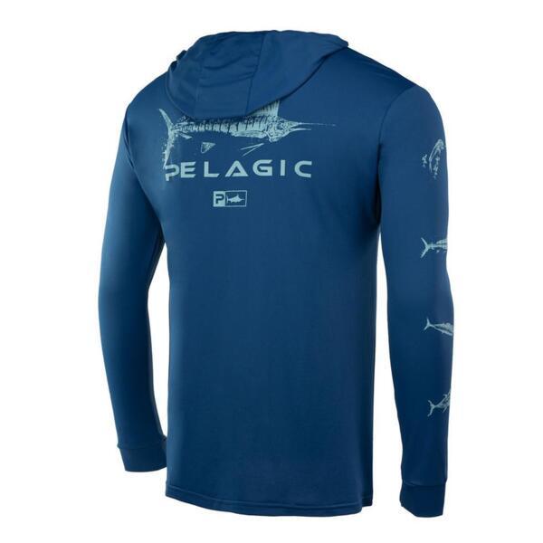 UV блуза с качулка и дълъг ръкав UPF 50+ PELAGIC AQUATEK HOODIE - GYOTAKU SMB