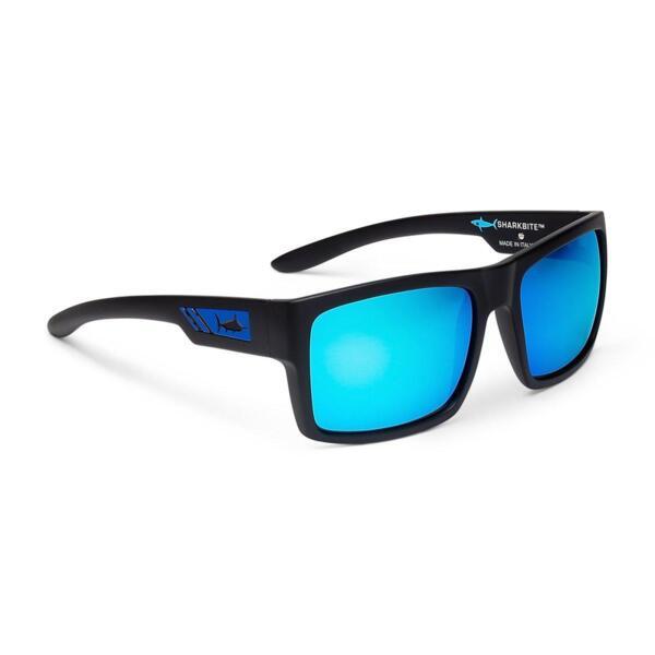Слънчеви очила PELAGICSHARK BITE - POLARIZED POLYCARBONATE LENS: Matte Black/Blue Mirror