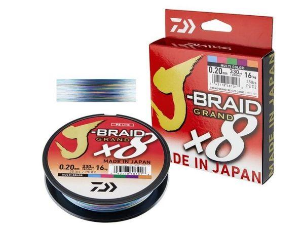 Плетено Влакно DAIWA J-BRAID GRAND X8 - MULTICOLOR - 150м