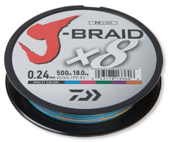 Плетено Влакно DAIWA J-BRAID X8 - 300м / MULTICOLOR