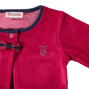 Късо бебешко сако с панделка