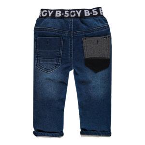 Дънков панталон с ластик на кръста за мини момче