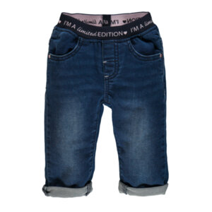 Еластичен дънков панталон за мини момиче