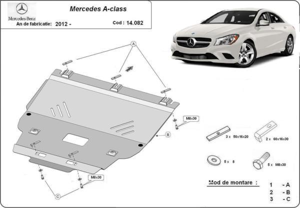 Метална кора под двигател и скоростна кутия MERCEDES A (W176) от 2012