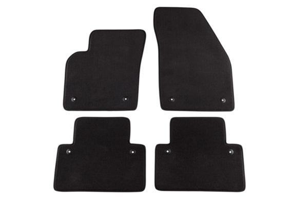 Мокетени стелки Petex за Volvo S40 03/2004-07/2012/V50 04/2004-07/2012/C30 12/2006 => 4 части черни (B058) style материя