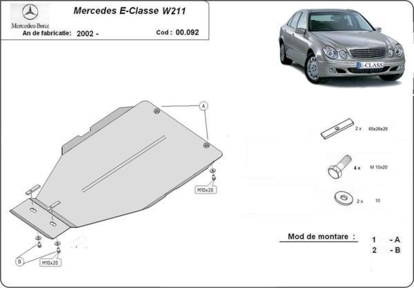 Метална кора под скоростна кутия MERCEDES E (W211) от 2002 до 2009
