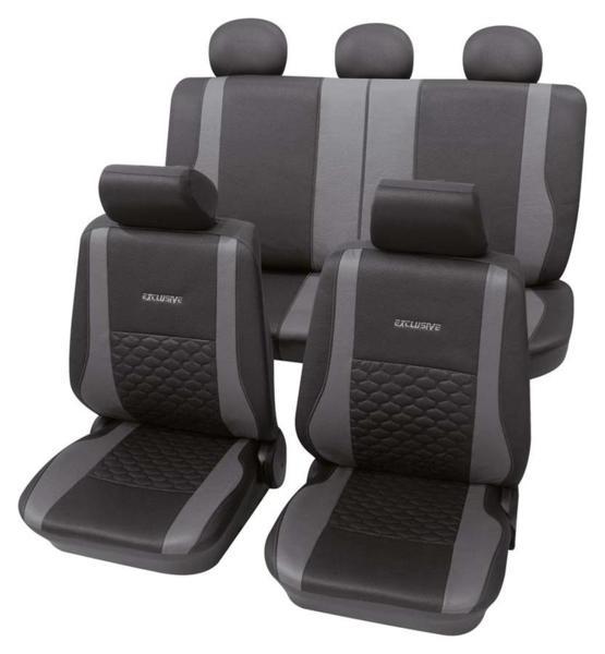 """Универсална немска тапицерия за седалки Petex """"Exclusive"""" - Черен цвят"""