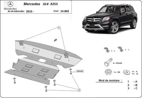 Метална кора под двигател и скоростна кутия MERCEDES GLK (X204) от 2008