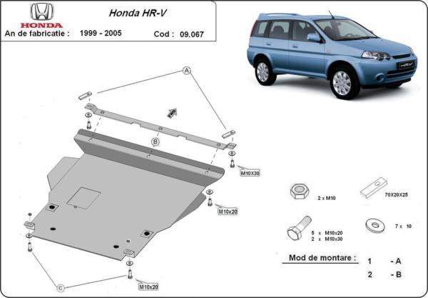 Метална кора под двигател и скоростна кутия HONDA HR-V от 1998 до 2005