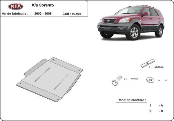 Метална кора под скоростна кутия KIA SORENTO от 2002 до 2006