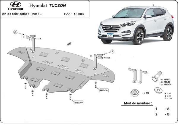 Метална кора под двигател и скоростна кутия след 2015 HYUNDAI TUCSON от 2009 до 2015