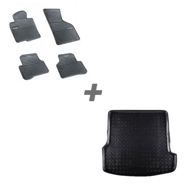 Комплект гумени стелки + стелка за багажник за Volkswagen Passat B5 комби