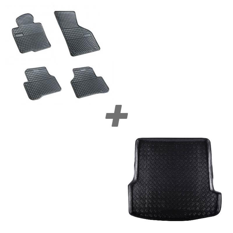 Комплект гумени стелки + стелка за багажник за Volkswagen Passat B5 седан