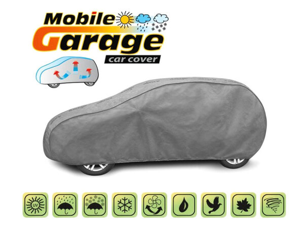 Покривало за кола Kegel серия Mobile размер L1 (430x173x136) сиво за хечбек и комби
