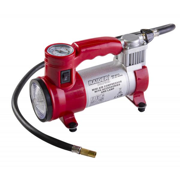 Компресор  12V DC метален 180W 35L/min с аксесоари и лампа RD-AC13