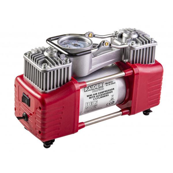 Компресор  12V DC метален 300W 70L/min 2 цилиндъра с аксесоари RD-AC14