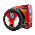 Компактен компресор за гуми, 12V + 3бр. накрайници