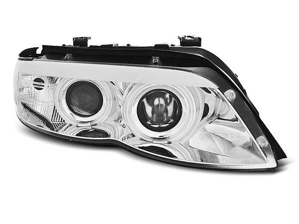 Тунинг фарове с CCFL ангелски очи и LED лента за BMW X5 E53 11.2003-2006