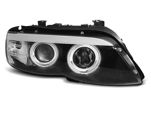 Тунинг фарове черни с CCFL ангелски очи и LED лента за BMW X5 E53 11.2003-2006