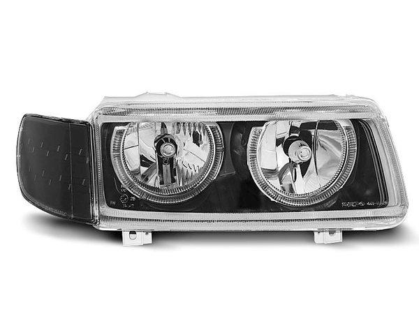 Тунинг фарове черни с ANGEL EYES за VW PASSAT B4 11.1993-05.1997