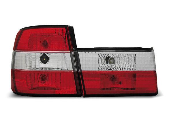 Тунинг стопове за BMW E34 02.1988-12.1995 седан с червена и бяла основа