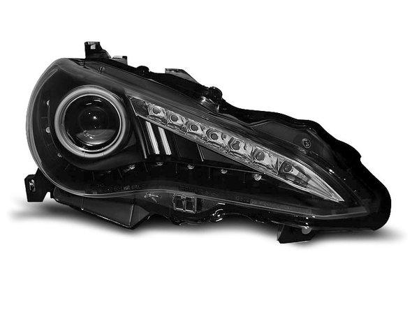 Тунинг фарове черни с LED светлини за TOYOTA GT86 2012-