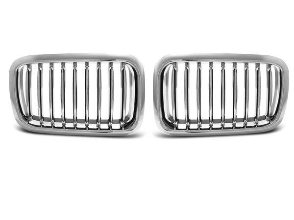 Тунинг решетки бъбреци хром за BMW E36 12.90-09.96