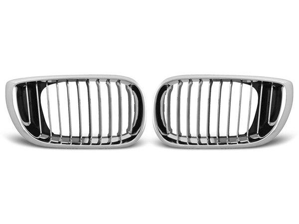 Тунинг решетки бъбреци хром за BMW E46 09.01-03.05