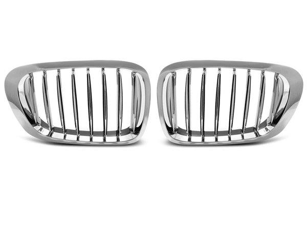 Тунинг решетки бъбреци хром за BMW E46 04.99-03.03 COUPE