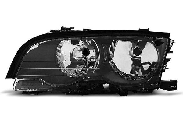Тунинг ляв рефлекторен фар черен за BMW 3 E46 04.1999-03.2001 купе/кабрио