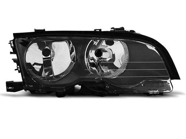 Тунинг десен рефлекторен фар черен за BMW 3 E46 04.1999-03.2001 купе/кабрио